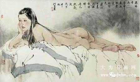 何家英工笔裸体人物画—耐人寻味之美
