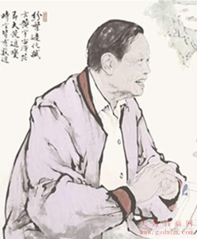 范曾作品(局部)-范曾 我所热爱的杨振宁先生